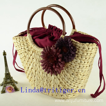 China factory cheap wicker straw knit had bag