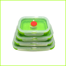 China for Rectangular Lunch Box Set Kid Eco Folding Silicone Lunch Box Set export to New Zealand Factory