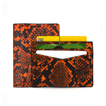 Custom Designer Genuine Python Leather Credit Card Holder