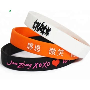 Printing Logo Best Quality Silicone Wristband for Souvenir