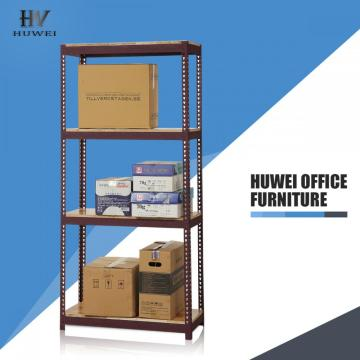 Steel slotted angle shelving light duty rack