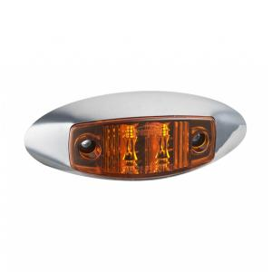 SAE LED Clearance Front Outline Lamps Chrome Grommet