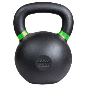 62LB Cast Iron Kettlebell with Colorful Ring