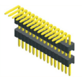1.27mm Pin Header Single Row Double Plastic Angle