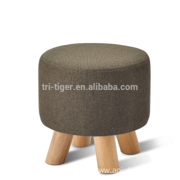 Professional for Leather Ottoman European-Style Ottoman Fabric Living Room Wooden shoes changing stool export to Niue Wholesale