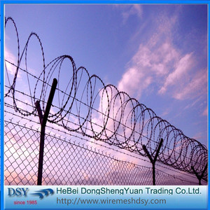 Single Coil  Galvanized BTO-22Razor Barbed Wire