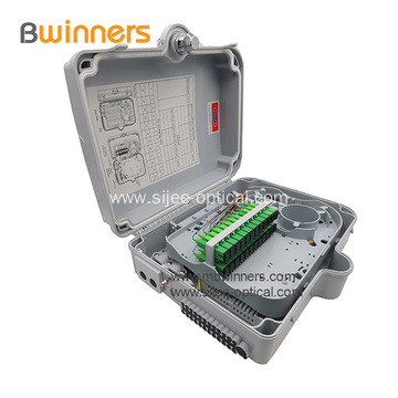 IP65 Outdoor Waterproof 24 Core FTTH PLC Fiber Optic Cable Distribution Box