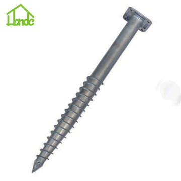 Easy Installation hot dip galvanized ground screw