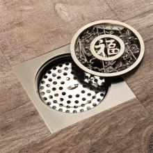 Good Quality for Full Brass Floor Drain HIDEEP  Antique Full Copper Art Floor Drain export to Italy Exporter