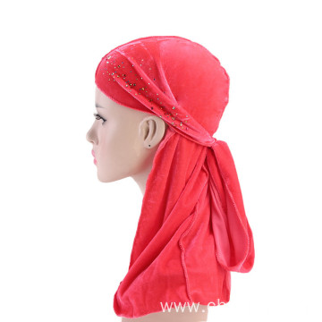 Hot pink pleuche turban bandanas hijab custom hats