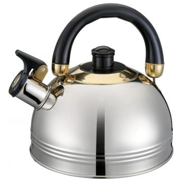 Durable Black Handle Whistling Kettle