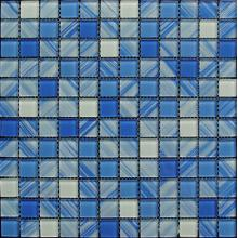 Blue Hand Painting Glass Mosaic