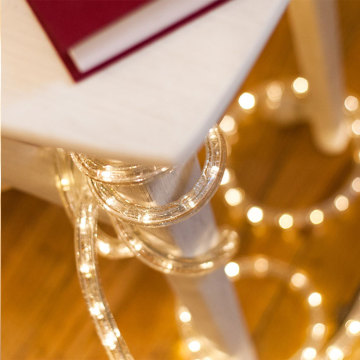 Warm White LEDs 24 Ft Plugin Rope Lights