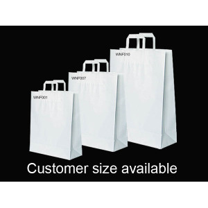 White Kraft Paper Bags Wholesale