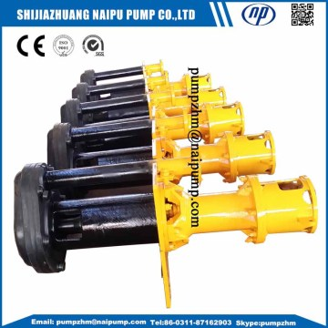 Rubber liners vertical centrifugal pump