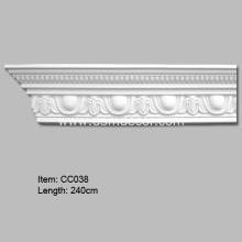 Crown Mouldings, Polyurethane Carved Cornice Mouldings, Cornice