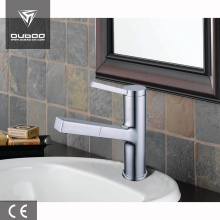 Online Manufacturer for Bathroom Faucets Single handle pull out basin faucet with sprayer export to South Korea Factories