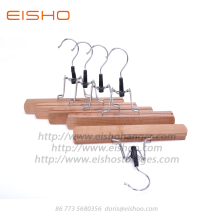China Gold Supplier for Pants Hangers EISHO Anti theft Wooden Skirt Pant Hangers supply to United States Exporter