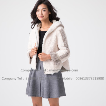 Winter Short Merino Shearling Jacket For Lady