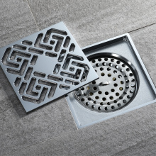 Customized for Full Brass Floor Drain HIDEEP Chrome Plating Art Square Copper Floor Drain export to Portugal Exporter