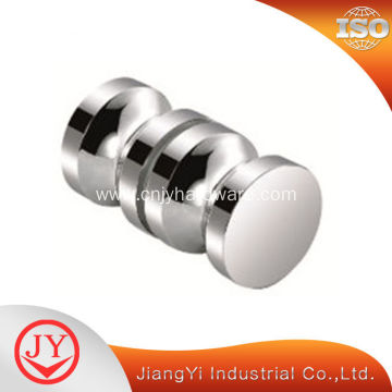 Brass material chrome plated shower glass door knob
