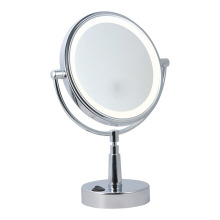Two-sided round tilt bathroom mirror