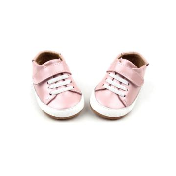 New Born Customized Pink Bling-Bling Baby Casual Shoes