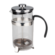 Customized for Bodum French Press Glass Coffee Press With Stainless Steel Frame Base export to Armenia Manufacturer