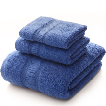 OEM/ODM for Custom Embroidered Towels Large Bath Towels Set Navy Blue Towels export to United States Supplier