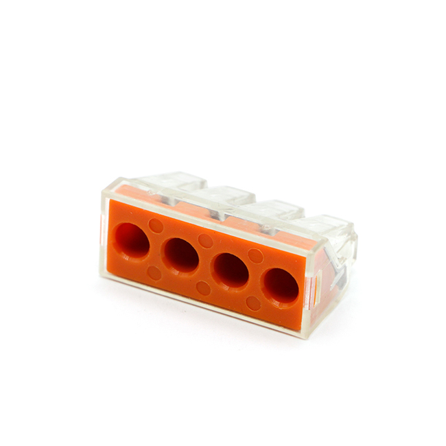 PCT-104D splicing push pin in wire terminal block connector