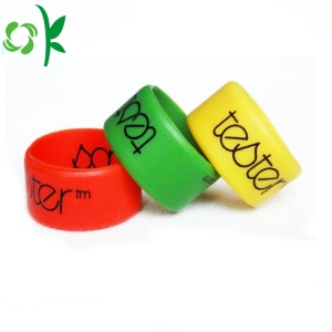 Wonderful Color Silicone Finger Ring Printed Wedding Rings