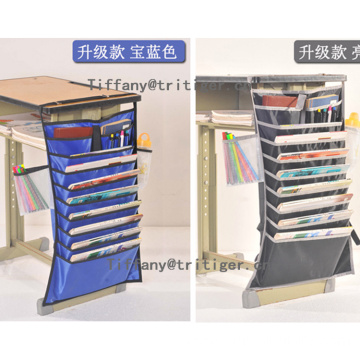 Multifunctional Adjustable Desk-Side Hanging Bag File Organizer Book Pockets