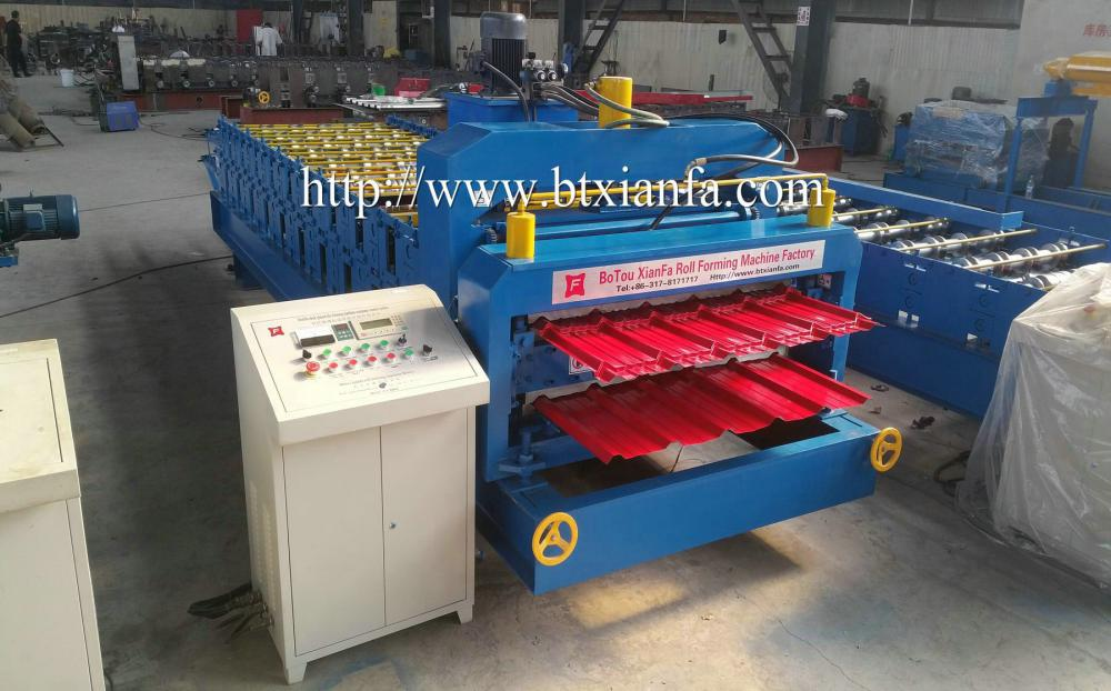 Double Deck Tile Roof Making Machine (2)