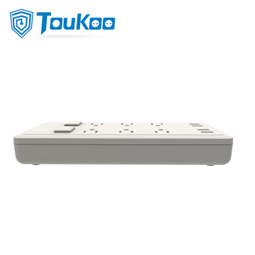 US 6 outlet power strip with USB socket