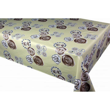 Elegant Tablecloth with Non woven backing Vinyl Exam