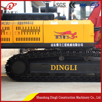 hydraulic crawler drilling-rig with full set of drill-bits