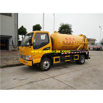JAC 4000L Excrement Suction Tank Trucks