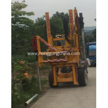 Hydraulic guardrail Pile Drilling Rig