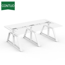 Supply for Three Legs Standing Desk Height Adjustable Sit Standing Desk For Office Conference supply to Tokelau Factory