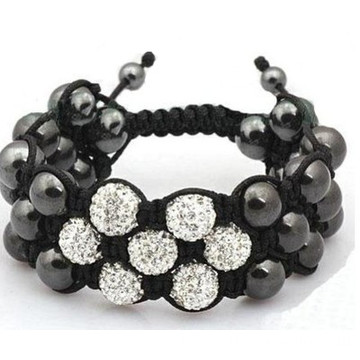 Multi Layers Triple Shamballa Bracelet Flower Shape Design