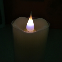 ODM for 3D Led Candles 3D moving flame purple light LED pillar candles export to Portugal Exporter