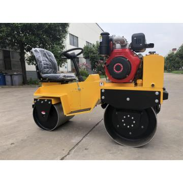 small vibration compaction double drum road equipment