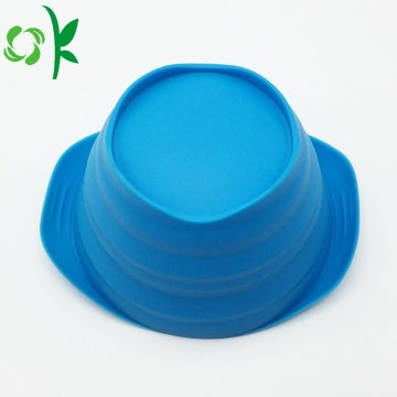 Food-grade Collapsible Portable Silicone Pet Dog Food Bowl