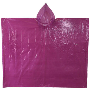 Promotional Square Plastic Disposable PE Rain Poncho
