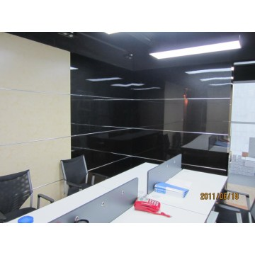 Glossy black fiber calcium silicate wall panelling
