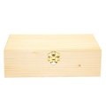 Custom size natural wooden box