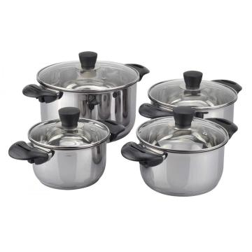 Heavy bakelite 8pcs cookware set