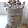 Hot selling Dobby material foldable dirty clothes easy carry laundry baskets