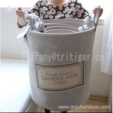 Wholesale customize Strong Heavy Duty dobby Fabric Laundry Basket