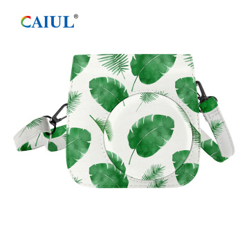 Tropical Palm PU Single Shoulder Camera Bag